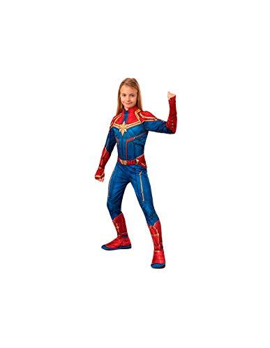 DISBACANAL Disfraz Capitana Marvel para niña - -, 8-10 años