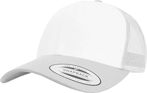 Flexfit Retro Trucker Colored Front Kappe, Silver/White, One Size