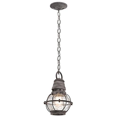 Elstead KL/BRIDGEPOINT8S Bridgepoint 1 Licht Kleine Ketting Plafond Lantaarn Licht In Verweerde Zink