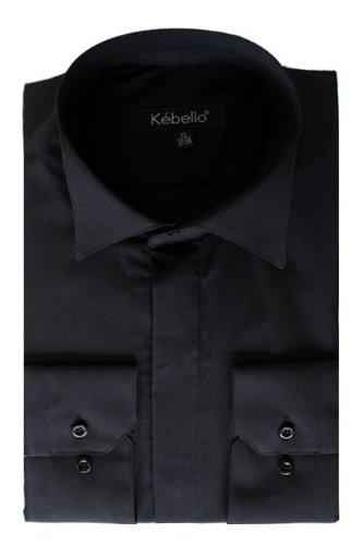 Kebello Chemise col cassé Taille : Homme Noir L