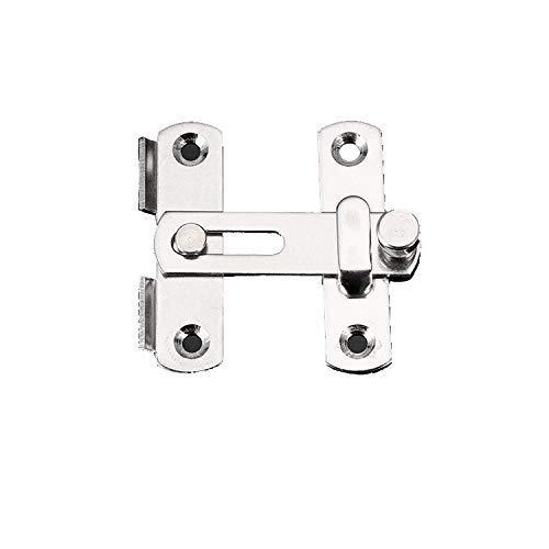 Hasp Latch Lock, 2 Inch Schuifdeurkast Multifunctionele Kamer Thuis Beveiligingsvenster Anti Corrosie Voor huisdier kooi Eenvoudige Installatie Hardware Roestvrij Staal