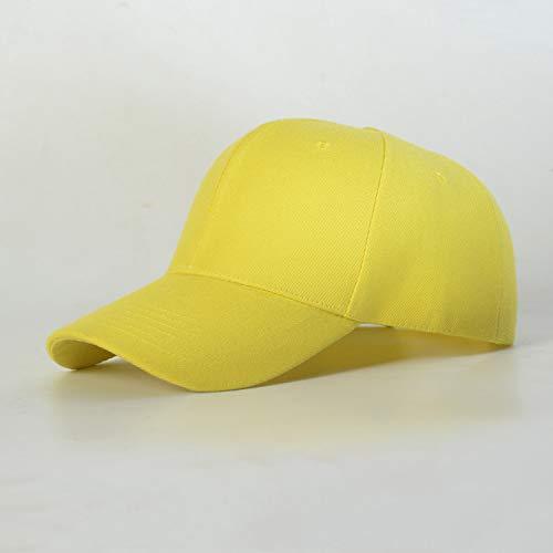 woyaochudan Cappello Berretto da Baseball Berretto Leggero Berretto Visiera Tinta Unita Visiera Cappello Maschio e Femmina Protezione Solare Spessore 3 Adulti (58-60) Regolabile