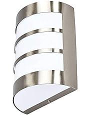 Lindby Wandlamp buiten 'Kristian' met bewegingssensor (modern) in Alu uit roestvrij staal - rvs wandlamp