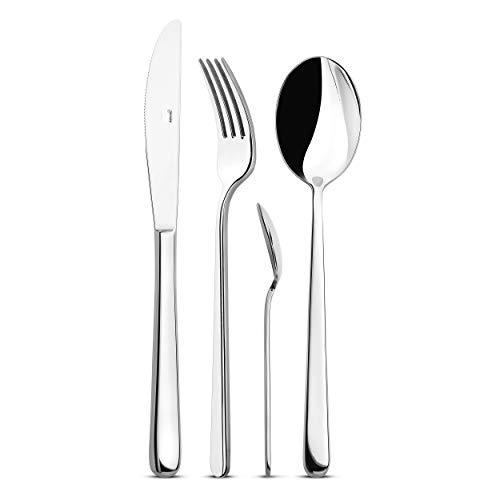 Giannini 5992 Posate Capri-Cuchillo de mesa, Metálico