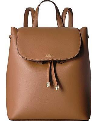 Lauren Ralph Lauren Dryden Flap Leather Backpack (Field Brown/Orange)