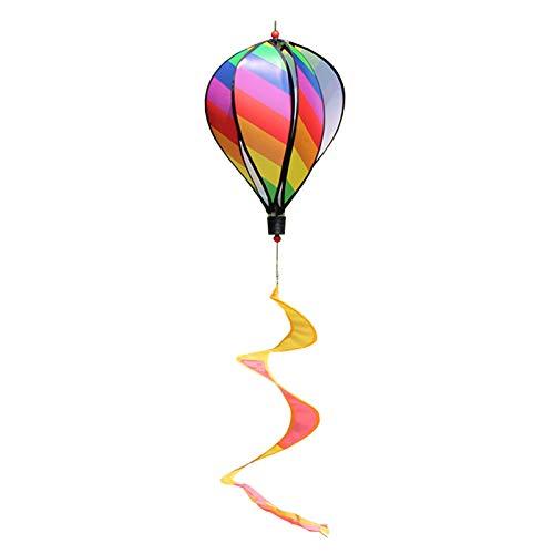 QPY Molinillo de viento colorido, diseño de espiral, de tela de jiroueta de viento, colgante de arco cielo, decoración de fiesta para jardín o interior