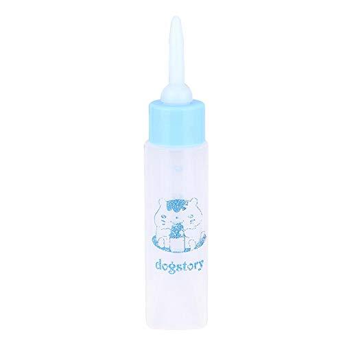 YOUTHINK 2 uds.Botella para Mascotas de 30 ml, Botella de Enfermera de hámster de Boca Suave, pequeña Mascota, Cachorro, Ardilla, Gatitos, biberón para Lactancia(Blue)