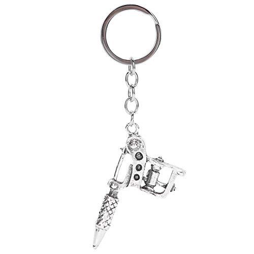 Machine à tatouer porte-clés, porte-clés léger, école pour porte-clés extérieur