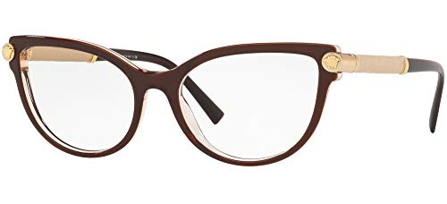 Versace 0VE3270Q Monturas de gafas, Top Brown/Transparente, 52 para Mujer