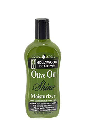 Hollywood Beauty Huile d'Olive humide et Brillance hydratante Cheveux Lotion, 340,2 gram