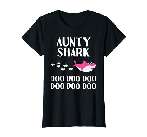 Aunty Shark Doo Doo For Aunt Mother's Day Christmas Niece T-Sh