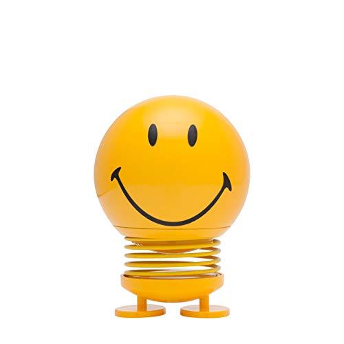 Hoptimist - Skandinavisches Design - Large Smiley - Höhe: 14 cm - Gelb - Deko - Geschenkidee