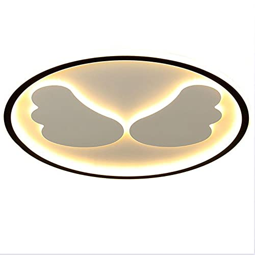 Lámpara De Techo Dormitorio LED Negra Ultrafina Moderna con Control Remoto Luz de Techo Redonda Regulable 35W Para Sala De Estar, Iluminación De Techo Aluminio Diseño Creativo, Ø40CM×H5CM