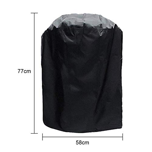 Jun 7 Sizes Black Waterproof BBQ Cover Barbeque Accessories Grill Cover Anti Dust Rain Gas Charcoal Electric Barbeque Grill Cover,3XS