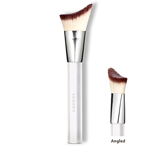 Handcrafted Highlighting, Contouring & Blending Angled Brush - UNDONE BEAUTY Apply + Blend Brush. For Cream & Powder Makeup, Foundation & Bronzers. Soft & Durable Bristles. Vegan & Cruelty Free.