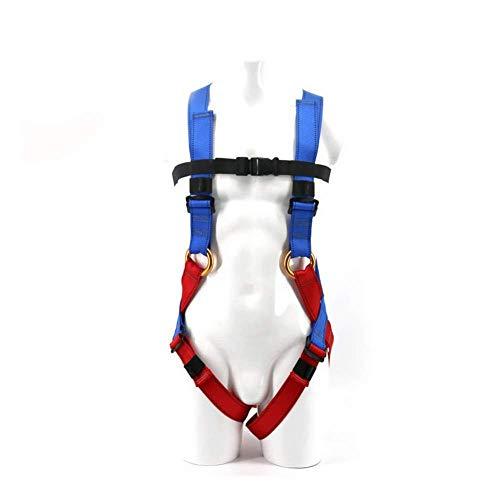 YXLONG Cinturón De Trabajo De Seguridad - Cinturón De Escalada con Almohadilla para La Cadera Y Montañismo De Roca con Anillo En D Lateral - Arneses De Detención De Caídas Equipo De Seguridad,Blue