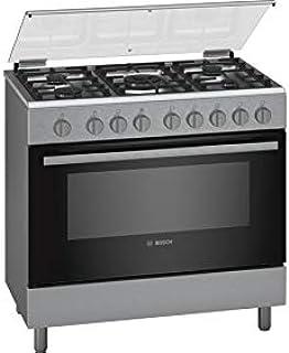 Bosch 90X60 cm 5 Gas Burners Gas Cooking Range, Stainless Steel - HGI12TQ50M, 1 Year Warranty