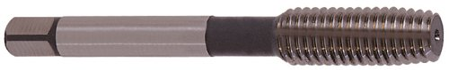 YG-1 - Z6404 Z6 Series Vanadium Alloy HSS Roll Form Tap with Oil Groove, Uncoated (Bright) Finish, Round Shank with Square End, Bottoming Chamfer, 1/4