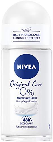 NIVEA Original Care Deo Roll-On (50 ml), Roll-On Deo mit Hautpflege-Essenz und mildem Duft, Deo für 48h zuverlässigen Deo-Schutz
