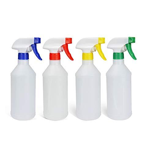 Yingm Rociador Recargable 4 Pcs Recargables pulverizador Contenedores Botellas del Aerosol vacío de 600 ml Cocina Secador baño de Limpieza (Color al Azar) Baño de Cocina y Limpieza
