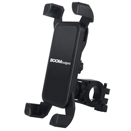 BOOMgadgets® Fahrrad Halterung fürs Handy Halter Smartphone Universal Bike Handyhalterung passend für 3,5-6,5 Zoll Handys