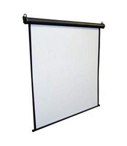 iggual Pantalla Elec. 240x240cm - Pantalla para proyector (Motorizado, 3,39 m (133.5'), 2,4 m, 2,4 m, 1:1, Negro, Blanco)
