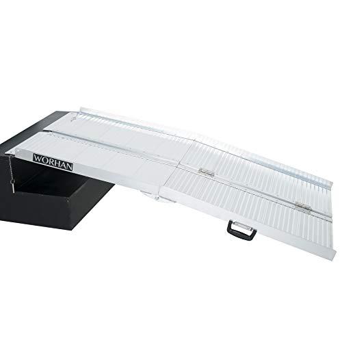 WORHAN® 1.53m Rampa Plegable Carga Silla de Ruedas Discapacitado Movilidad Aluminio R5