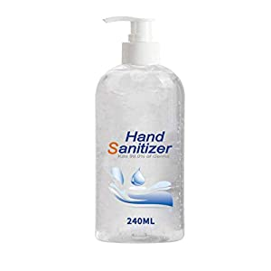 Refreshing Hand Sanitizer Gel, Washless Hand Soap Gel, Super-Large Capacity Household Cleaning Gentle Hydrating Hand Sanitizer Soothing Gel,Non-irritating,Pump Bottle 240ML