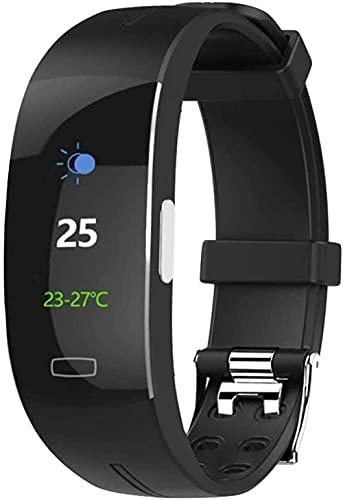 Rastreador de actividad con monitor de frecuencia cardíaca, pulsera inteligente impermeable, contador de calorías, monitor de sueño, podómetro, reloj de salud