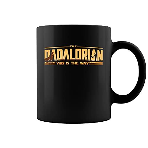 Dadalorian - Taza de té de cerámica para el día del padre (11 onzas), color negro