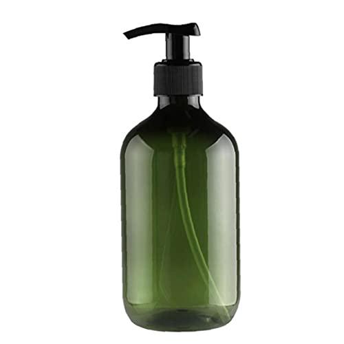 Rrunzfon Bomba de vacío de la Botella rellenable loción champú dispensador líquido Gel de Ducha 300 ml Envase Verde Hacer una Hermosa Bun