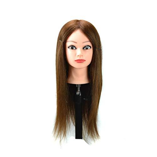 Bin Zhang Perruque tresser cheveux salon de coiffure peut être poupée bobine à chaud tête cheveux tête de mannequin (Color : Light Brown)
