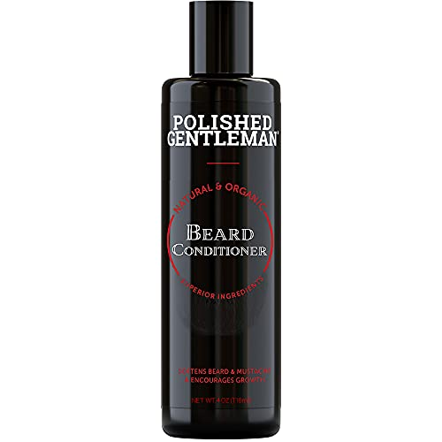 Beard Growth and Thickening Conditioner - with Tea Tree and Organic Beard Oil Moisturizer - Mustache and Beard Softener - Beard Grooming Kit for Men - Natural Facial Hair Wash and Conditioner - (4oz)