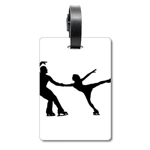 Esportes Educação Física Jogador Patinagem Mala Etiqueta Etiqueta Cartão de Bagagem Scutcheon Etiqueta