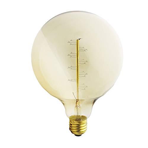 Ampoule G125 40 W - Rétro - En forme de spirale - En tungstène - E27 - Blanc chaud - 2200 K - Intensité variable - 220-240 V CA (1PC/G125-R)