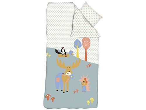 FLEXA Forest Bettwäsche für Kinderbettdecke 140x200cm; Kissen 50x70cm 83-70334