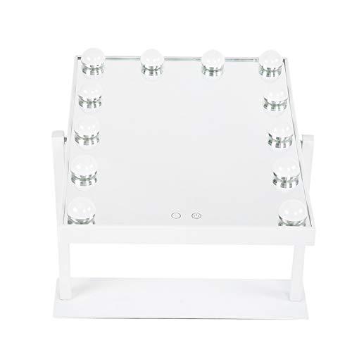 Ausla Espejo de Maquillaje LED de vanidad, diseño de rotación de 360 Grados para Hoom