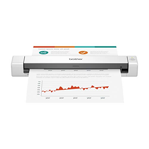 Brother DS-640 Compact Mobile Document Scanner,...