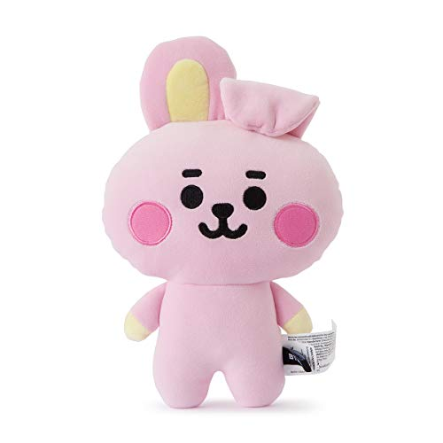 BT21 Baby Series Cooky Character Small Soft Stuffed Animal Plush Figure Pillow Cushion, Pink