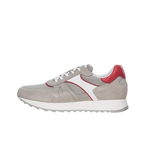 Nero Giardini E001500U Sneakers Uomo in Pelle E Camoscio - Cenere 43 EU