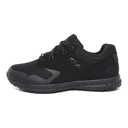 Fila Women's Work Health Care Professional Shoe, Black/Black/Black, 8.5