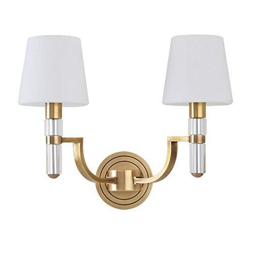 Lampen, wandlamp, wandlamp, Chinese stijl, koper, slaapkamer, nachtkastje, wandlamp van glas, voor kantoor, muur, trap, wandlampen