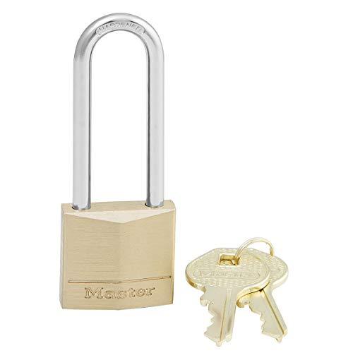 Master Lock 130EURDLJ 30mm Brass Padlock Long Shackle