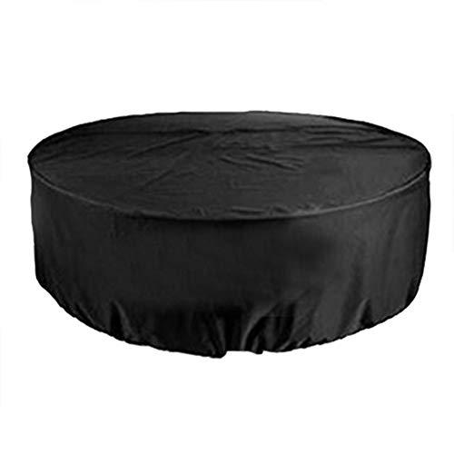 Changor Funda para muebles, 200 x 94 cm, perfecta a prueba de lluvia, cubierta para mesa de patio, tela Oxford 210d, hecha (negra)