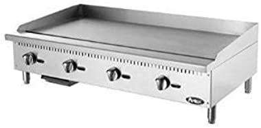 "Atosa ATMG-48 48"" Manual Countertop Gas Griddle"