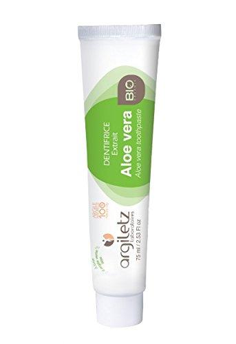 Argiletz Dentifrice Nature/Aloès Vera Bio 75 ml - Lot de 4