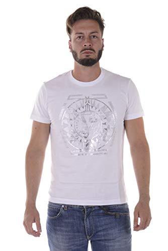 Versace Jeans - Herren-T-Shirt B3GQA796 WEISSES Jersey COT Sole L