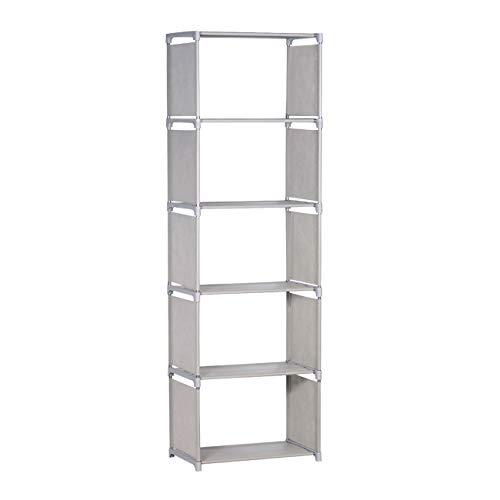 NiceAI - Estantería ligera y moderna con marco de metal para habitación de los niños, juguetes para oficina, tamaño A4, libros de cocina, almacenamiento de ropa, 6 niveles