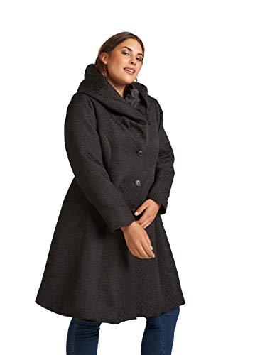 Zizzi Damen Große Größen Mantel Jacke Kapuze Klassisch Wintermantel Gr 42-56