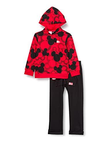 adidas GM6936 INF DY MM JOGG2 Sport Set Baby-Boys Top:Vivid Red/Black Bottom:Black 1824 ✅